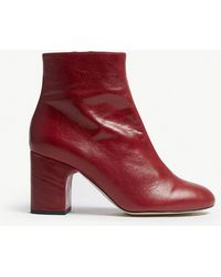 Office - Applause Leather Block Heel Boots - Lyst