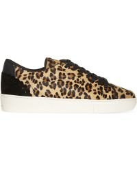 Claudie Pierlot - Adele Ter Haircalf Lace Up Trainers - Lyst