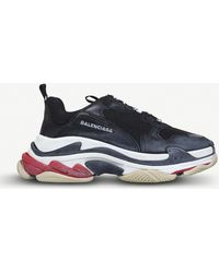 Balenciaga - Triple S Suede And Mesh Trainers - Lyst