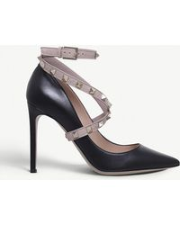 Valentino - Studwrap 105 Leather Courts - Lyst