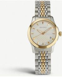 Gucci - Ya126511 G-timeless Collection Stainless Steel And Yellow-gold Pvd Watch - Lyst