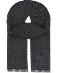 Corneliani - Wool Contrast Spot Scarf - Lyst