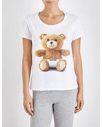 Moschino - Underbear Cotton Pyjama Top - Lyst