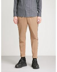 The Kooples - Curb Chain Piped Cotton Chinos - Lyst