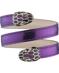 BVLGARI - Serpenti Forever Leather Wrap Bracelet - Lyst