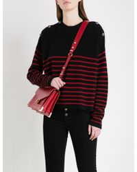 The Kooples - Striped Button-detail Cashmere Jumper - Lyst