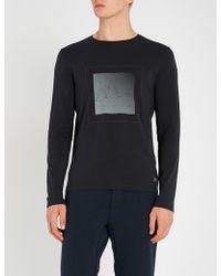 Corneliani - Geometric-print Stretch-cotton Top - Lyst