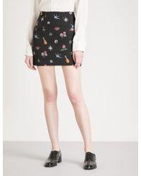 Sandro | Tattoo-pattern Jacquard Skirt | Lyst