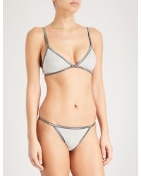 CALVIN KLEIN 205W39NYC - Id Cotton-blend Lingerie Set - Lyst