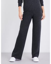 Madeleine Thompson - Drake Ribbed Cashmere Pyjama Bottoms - Lyst