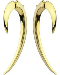 Shaun Leane | Sterling Silver And Gold Vermeil Hook Earrings Size 1 | Lyst