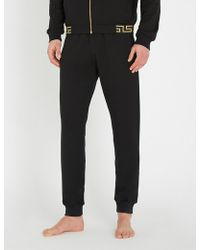 Versace - Iconic Stretch-jersey jogging Bottoms - Lyst