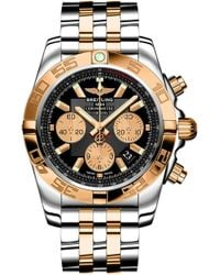 Breitling - Cb011012/b968 Chronomat 44 Rose-gold And Stainless Steel Chronograph Watch - Lyst