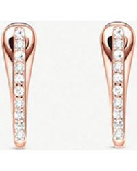Thomas Sabo - Classic 18ct Rose Gold-plated And Zirconia Hoop Earrings - Lyst