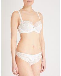 Panache - Quinn Satin And Stretch-lace Balconette Bra - Lyst