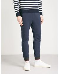 The Kooples - Relaxed-fit Tapered Cotton-jersey Jogging Bottoms - Lyst