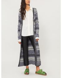 Free People - Stripe-pattern Knitted Cardigan - Lyst