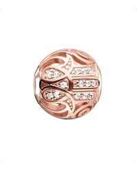 Thomas Sabo - Karma Beads Fatima's Hand 18ct Rose Gold-plated Bead - Lyst