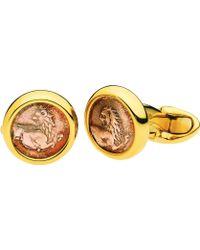BVLGARI - Monete Antiche 18kt Yellow-gold Cufflinks With Antique Coins - Lyst
