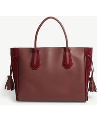 Longchamp - Pénélope Soft Leather And Velvet Tote Medium - Lyst