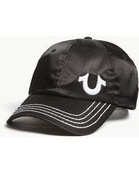 True Religion - Logo Satin Strapback Cap - Lyst