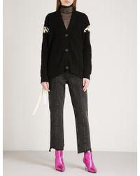 Mo&co. - Tie-up Wool Cardigan - Lyst