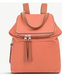 Loewe - Goya Small Leather Backpack - Lyst