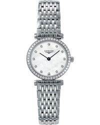 Longines - 284066 La Grande Classique Stainless Steel And Diamond Watch - Lyst