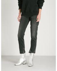 Sandro - High-rise Skinny Eyelet-detail Jeans - Lyst