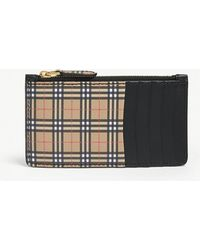 Burberry - Somerset 1893 Leather Card Case - Lyst