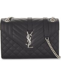 84ea970351 Lyst - Saint Laurent Monogram Medium Quilted Leather Shoulder Bag in ...