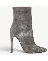 Steve Madden - Wifey Rhinestone-embellished Ankle Boots - Lyst
