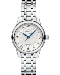 Montblanc - 116498 Bohème Diamond And Stainless Steel Watch - Lyst