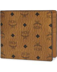 MCM | Visetos Canvas Billfold Wallet | Lyst
