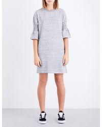 Izzue - Flared-cuff Cotton-blend Dress - Lyst