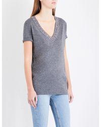 The Kooples Sport - Embellished Jersey T-shirt - Lyst