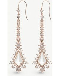 Kendra Scott - Reimer 14ct Rose Gold-plated And Ivory Mother-of-pearl Earrings - Lyst
