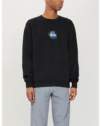 Stussy - 2 Bar Stock Applique Cotton-blend Sweatshirt - Lyst