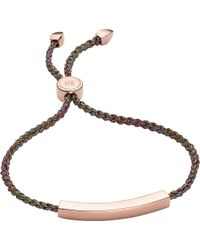 Monica Vinader - Linear 18ct Rose Gold-plated Friendship Bracelet - Lyst