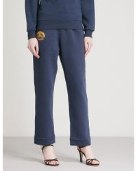 Burberry - S Brand-embroidered Cotton-blend Jogging Bottoms - Lyst