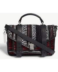 Proenza Schouler - Ps1 Tiny Leather And Canvas Shoulder Bag - Lyst