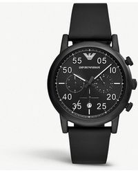 Emporio Armani - Ar11133 Luigi Black Pvd-plated Stainless Steel Chronograph Watch - Lyst