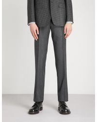 Canali - Regular-fit Wool-flannel Trousers - Lyst