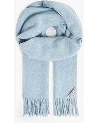 Acne Studios Canada New Wool Scarf - Blue