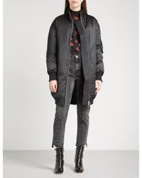 Mo&co. - Oversized Satin Quilted Down-blend Coat - Lyst