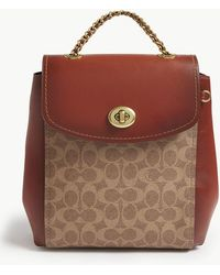 COACH - Coated Canvas Signature Parker Backpack - Lyst