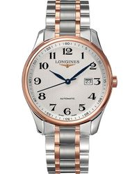Longines - L2.893.5.79.7 Master Collection 18ct Rose Gold-plated Stainless Steel Watch - Lyst