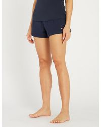 Tommy Hilfiger - Logo-embroidered Stretch-cotton Pyjama Shorts - Lyst