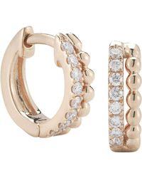 The Alkemistry - Dana Rebecca 14ct Rose Gold And Diamond Earrings - Lyst