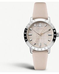 Vivienne Westwood - Vv152lpkpk Bloomsbury Stainless Steel And Leather Strap Watch - Lyst